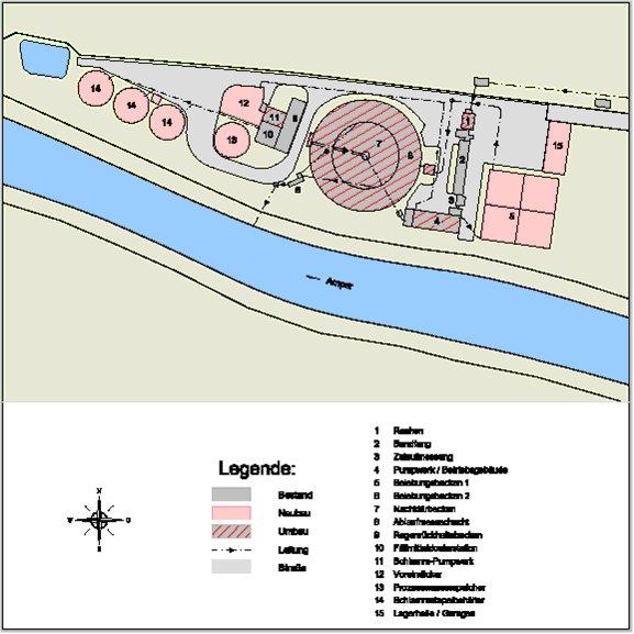 Lageplan der Kläranlage Grafrath